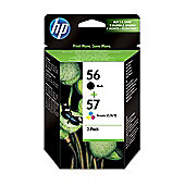 HP 56 Black/57 Tri-colour 2-pack Original Ink Cartridges