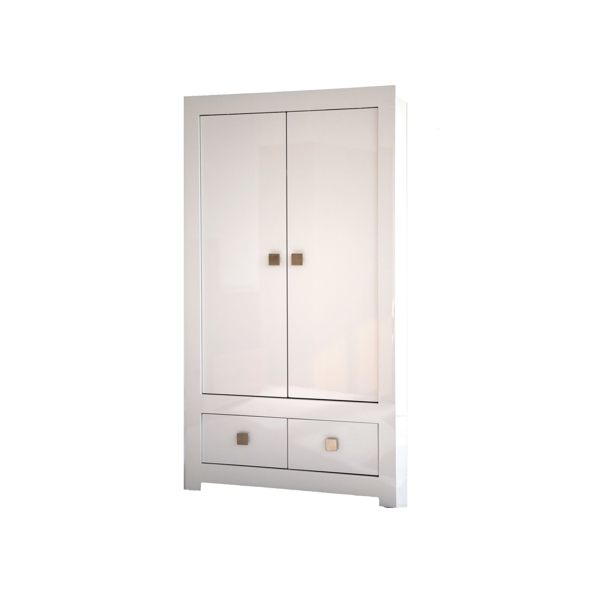 World Furniture Bari Two Drawer Wardrobe in High White Gloss at Tesco Direct