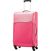 Samsonite American Tourister Malibu Spring 4-Wheel Suitcase, Pink Large