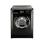 Beko WMB61431B Washing Machine, 6 Kg Load, 1400 RPM Spin, Black, A Energy