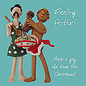 Holy Mackerel Feeling Festive? Have A Gay Old Time This Christmas Greetings Card