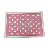 Dotty Children's Rug - Pink
