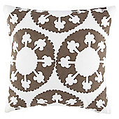 Ethnic Circles Cushion Brown