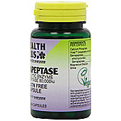 Health Plus Serrapeptase 80,000iu 60 Veg Capsules