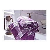 Catherine Lansfield Home Cosy Corner Swing Kelso Jacquard 500gsm Bath Towel Mulberry