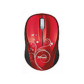 Trust Vivy Mouse - Optical - Wireless - Red - Radio Frequency - USB - 800 dpi - Scroll Wheel - Symmetrical