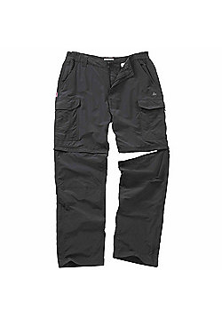Craghoppers Mens Nosilife Convertible Trousers - Dark grey