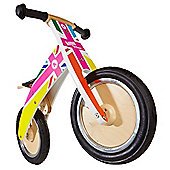 Kiddimoto Kurve Balance Bike (Rainbow Union Jack)
