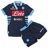 2012-13 Napoli Away Macron Mini Kit - Navy