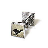 White Brick Greyhound Graffiti Cufflinks
