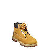 Timberland 6 Inch Premium Wheat Brown ToddlerNubuckLeather Ankle Boots - 8.5