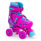 Lightning Hurricane Adjustable Quad Skate - Pink - 3-6
