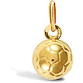Jewelco London 9ct Yellow Gold Football Charm