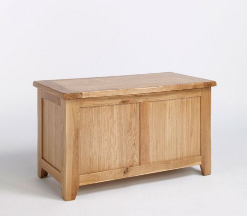 Ametis Westbury Reclaimed Oak Blanket Box