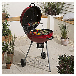 Masterchef 56cm Kettle Charcoal BBQ, Red Sparkle