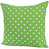 Homescapes Cotton Green Stars Scatter Cushion, 60 x 60 cm