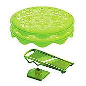 Mastrad TopChips Microwave Crisp Maker Set with Food Slicer, Green