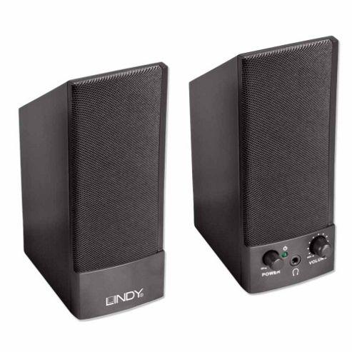 Lindy USB Powered Speakers Black