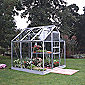 Halls 6x6 Popular Greenhouse + Base - Toughened Glass