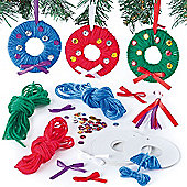Yarn Wreath Decoration Kits for Children (6 Pcs)