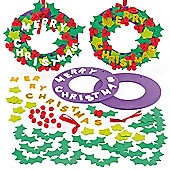 Christmas Foam Wreath Decorations (2 Pcs)