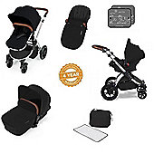 ickle Bubba V2 Stomp AIO Travel System with Mosquito Net - Black (Silver Chassis)