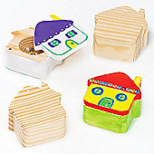 House Wooden Trinket Boxes (Box of 4)