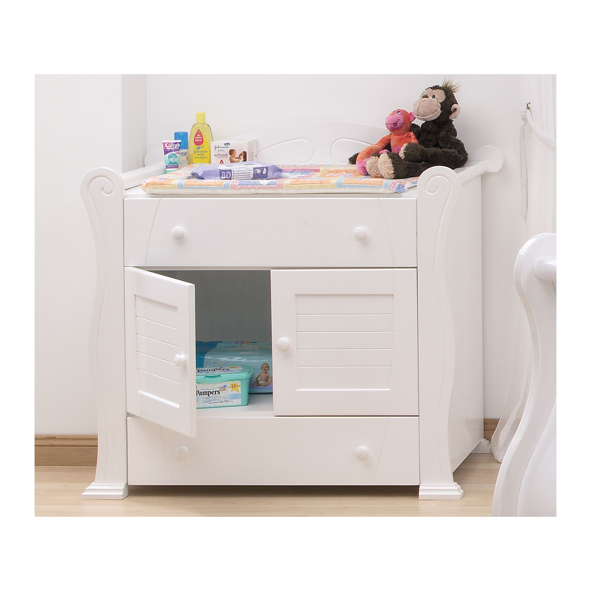 Tutti Bambini Marie Chest Changer in White at Tesco Direct