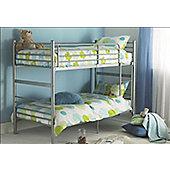 Hyder Seattle Bunk Bed - Silver - 2 Basic Mattresses