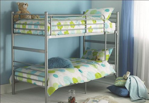 Hyder Seattle Bunk Bed - Silver - 2 Basic Mattresses