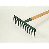 Home Gardener R1645 Garden Rake Wooden Handel 12 Tooth