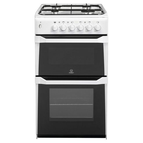 Indesit IT50L(W) White LPG Gas Cooker, Twin Cavity, Single Oven