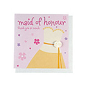 Fashionista Maid of Honour Wedding Thank You Card