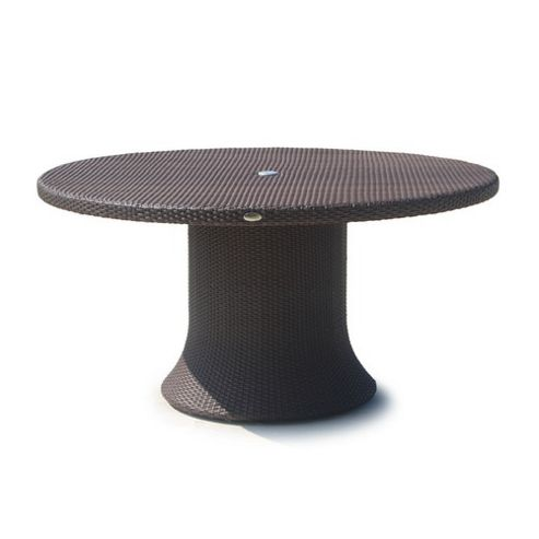 SkyLine Design Chelsea Round 6-8 Seat Dining Table - None - Autumn Mist 10mm