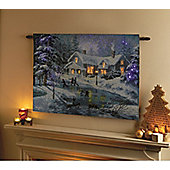 90cm x 65cm A Fine Winter's Eve Tapestry