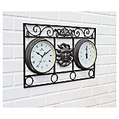"Greenhurst Wall Frame ""Sun"" Clock Thermometer"