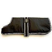Animate Waterproof Padded Dog Coat Black 25Cm