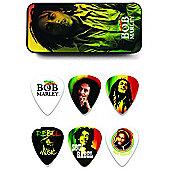 Bob Marley Rasta Pick Tin, Medium - 6 Picks