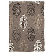 Leaf Print Rug 80 x 150cm, Natural