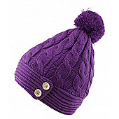 Audio Beanie With Bobble And Buttons