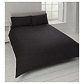Tesco Cotton Rich Plain Dye Double Duvet Cover, - Black