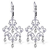 QP Jewellers Chandelier Earrings in 14K White Gold