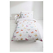 Tesco Kids Butterfly Wings Duvet Set Single