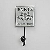 Paris - Mirror Wall Coat Hook - Silver / Black