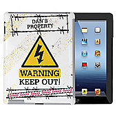 Personalised Keep Out iPad Case