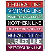 London Underground London Underground Stations Large Canvas Print