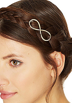 Pieces Metal Infinity Symbol Hairclip - Gold