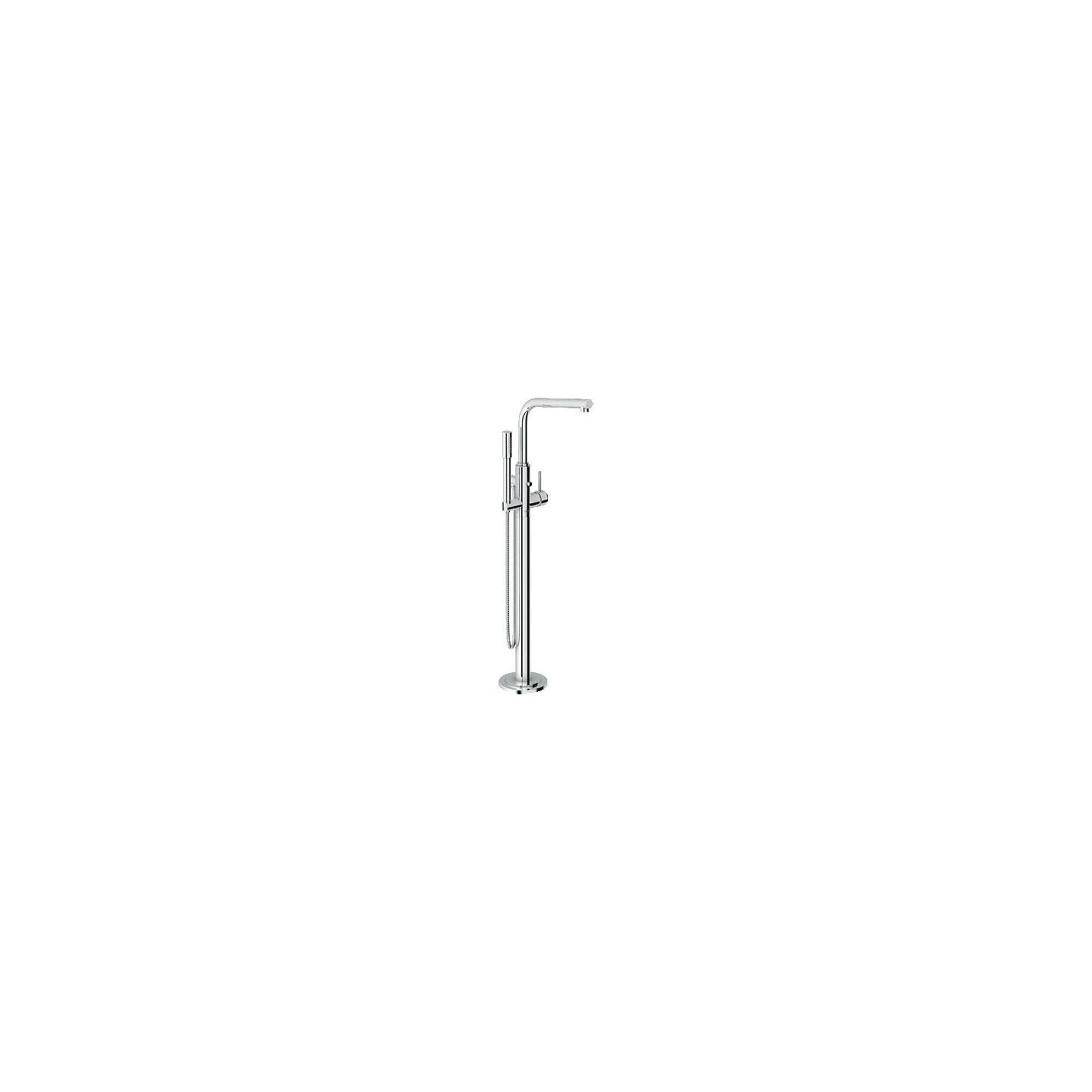 Grohe Atrio One Bath Shower Mixer Tap with L-Spout, Floor Standing, Chrome at Tesco Direct