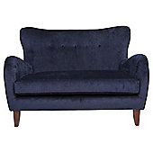 Julianne Loveseat Velvet Midnight Blue