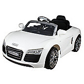 12V Audi R8 Ride on Car White